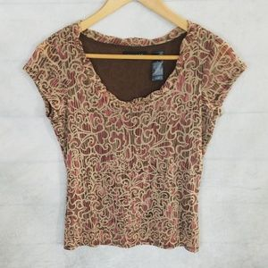 ***3/$20*** Axcess – Stretch knit blouse – M